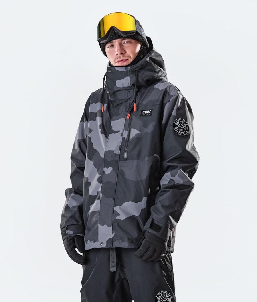 Dope Blizzard FZ Snowboard Jacket Black Camo