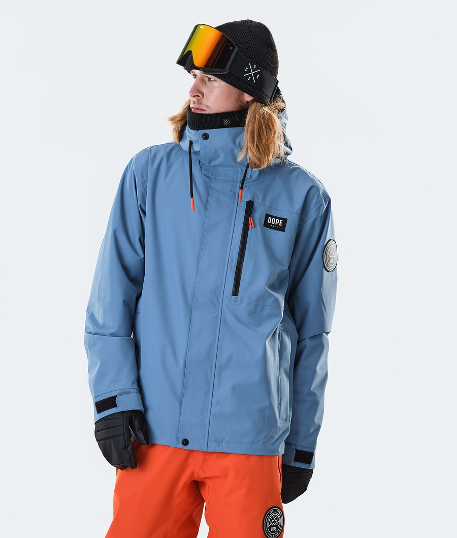Dope Blizzard FZ Snowboard Jacket Blue Steel