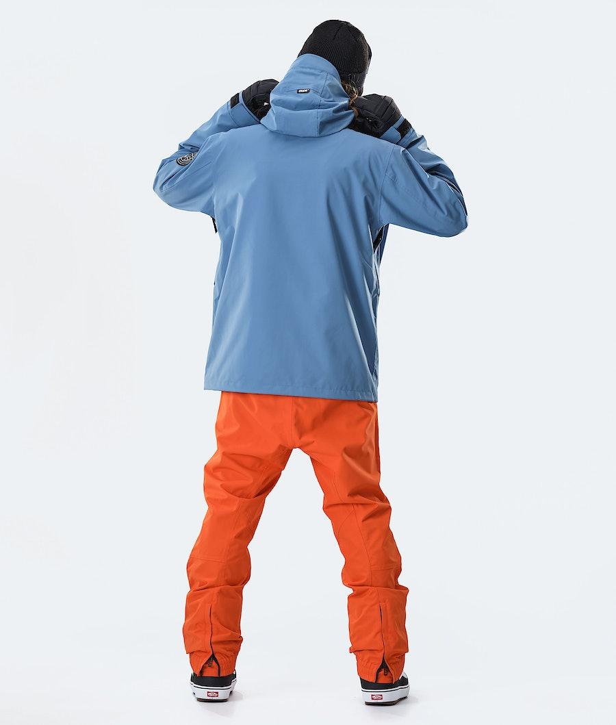 Dope Blizzard FZ Snowboard Jacket Blue Steel