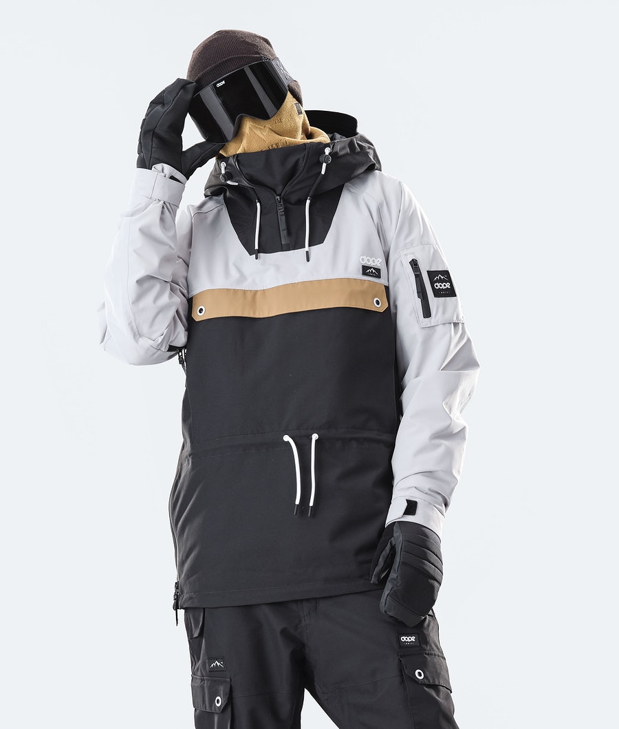 Dope Annok Giacca da Snowboard Light Grey/Gold/Black
