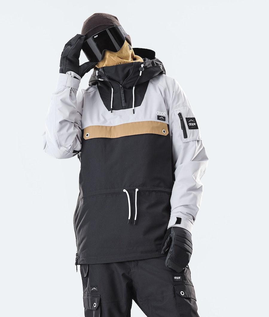 Dope Annok Ski Jacket Light Grey/Gold/Black