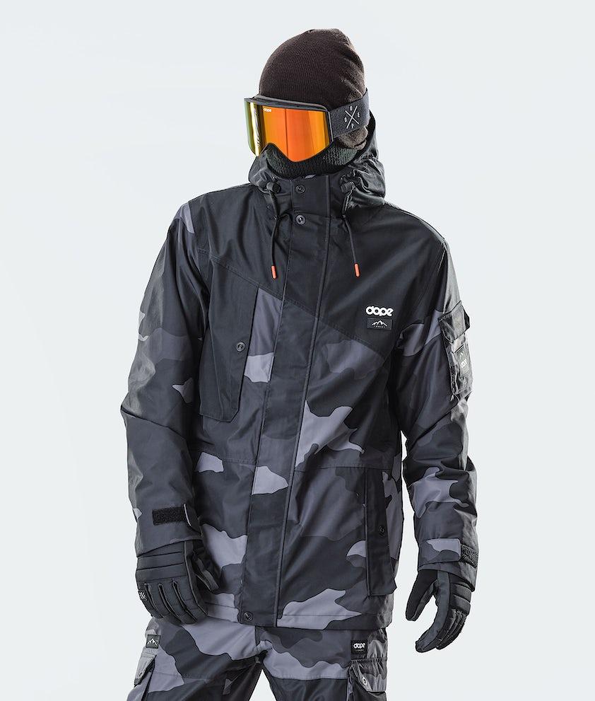 Dope Adept Snowboardjakke Black/Black Camo