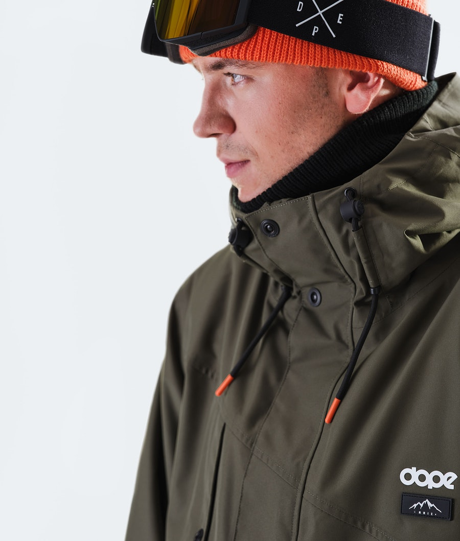 Dope Adept Snowboardjakke Olive Green