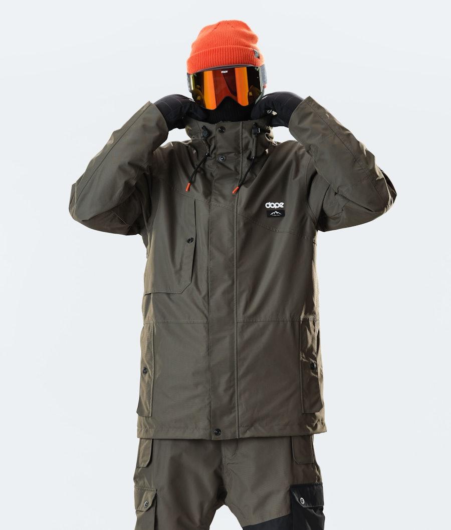 Dope Adept Ski Jacket Olive Green