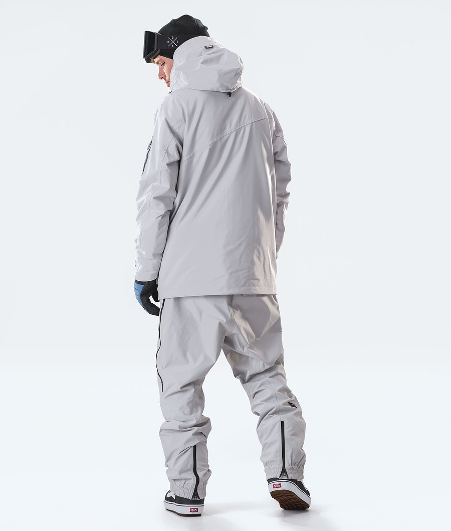 Dope Adept Snowboard Jacket Light Grey