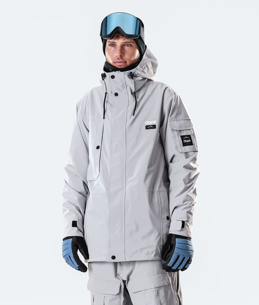 Dope Adept Ski Jacket Light Grey