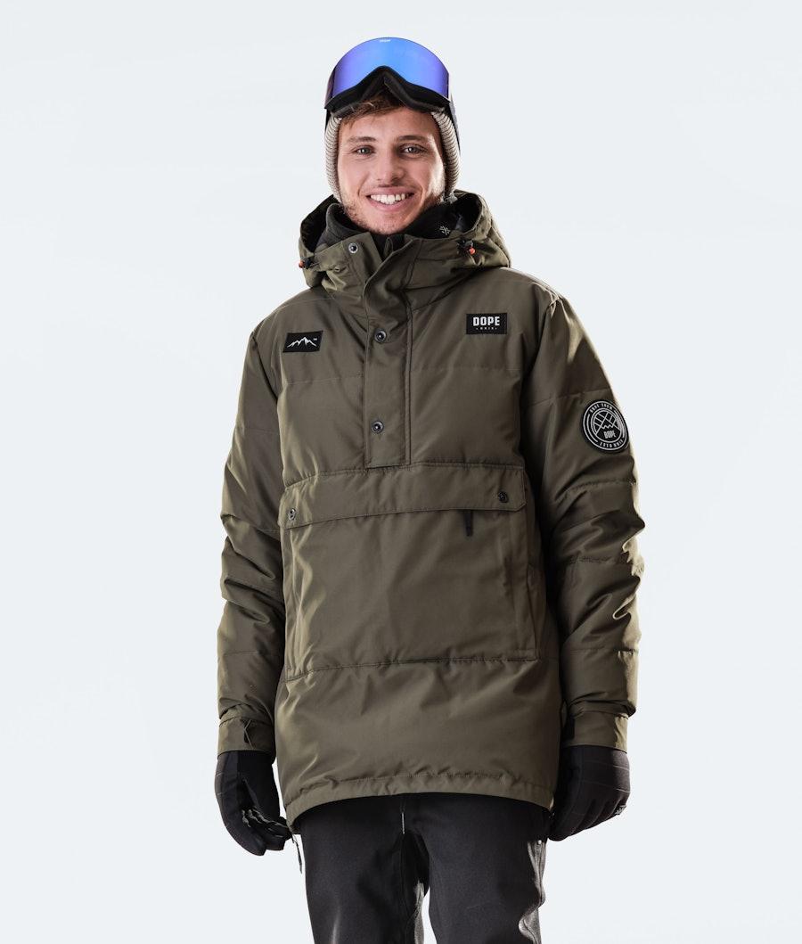 Dope Puffer Ski Jacket Olive Green