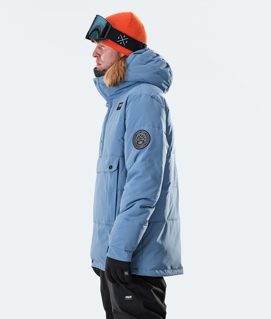 Dope Puffer Ski Jacket Blue Steel