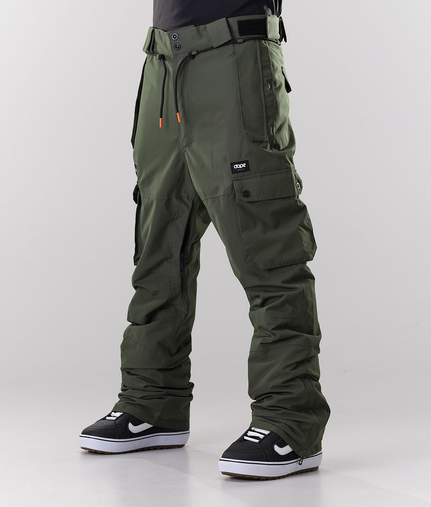Dope Iconic Snowboardbyxa Olive Green