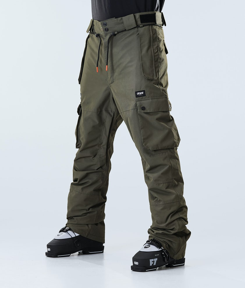 Dope Iconic Ski Pants Olive Green