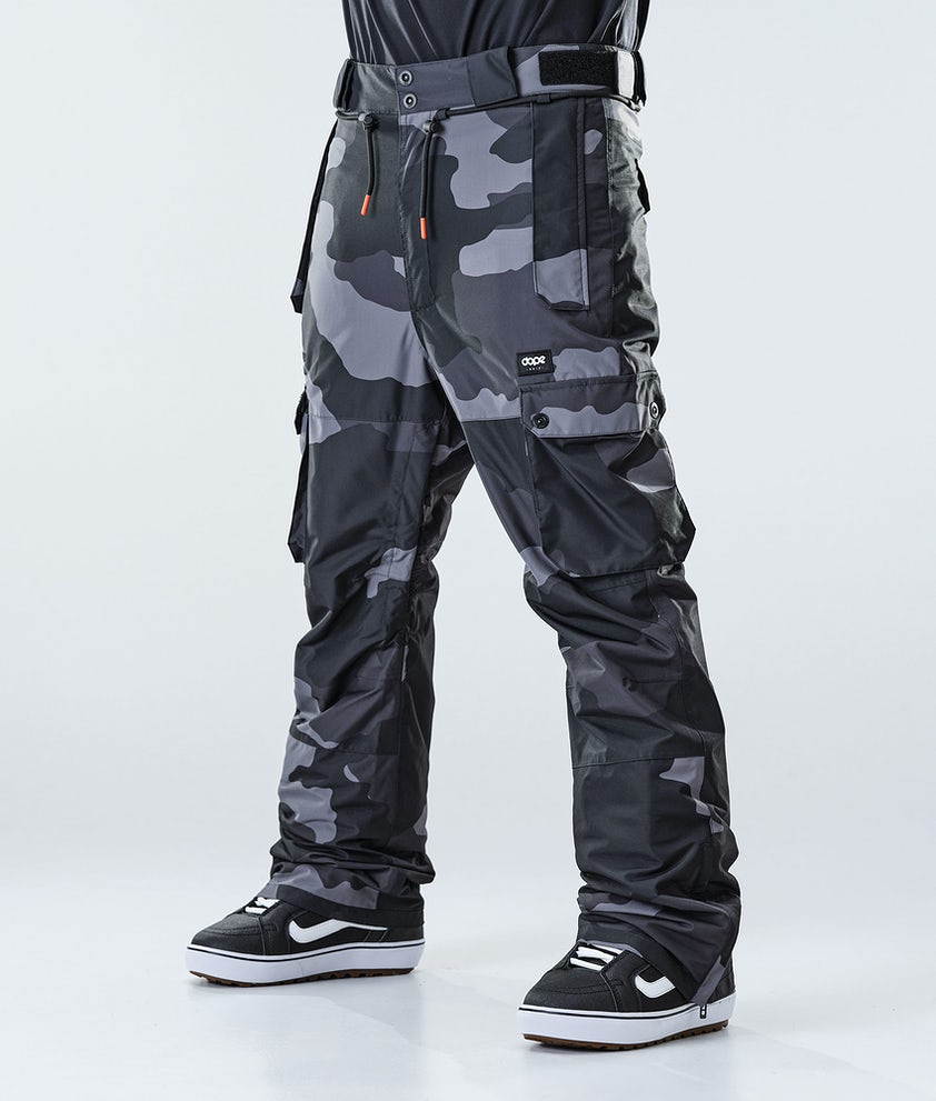 Dope Iconic Snowboard Pants Black Camo