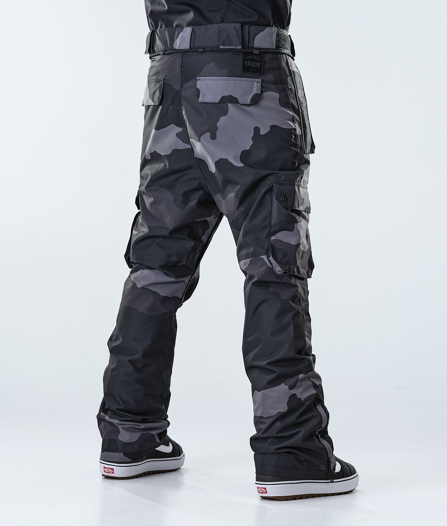Dope Iconic Snowboard Pants Black Camo