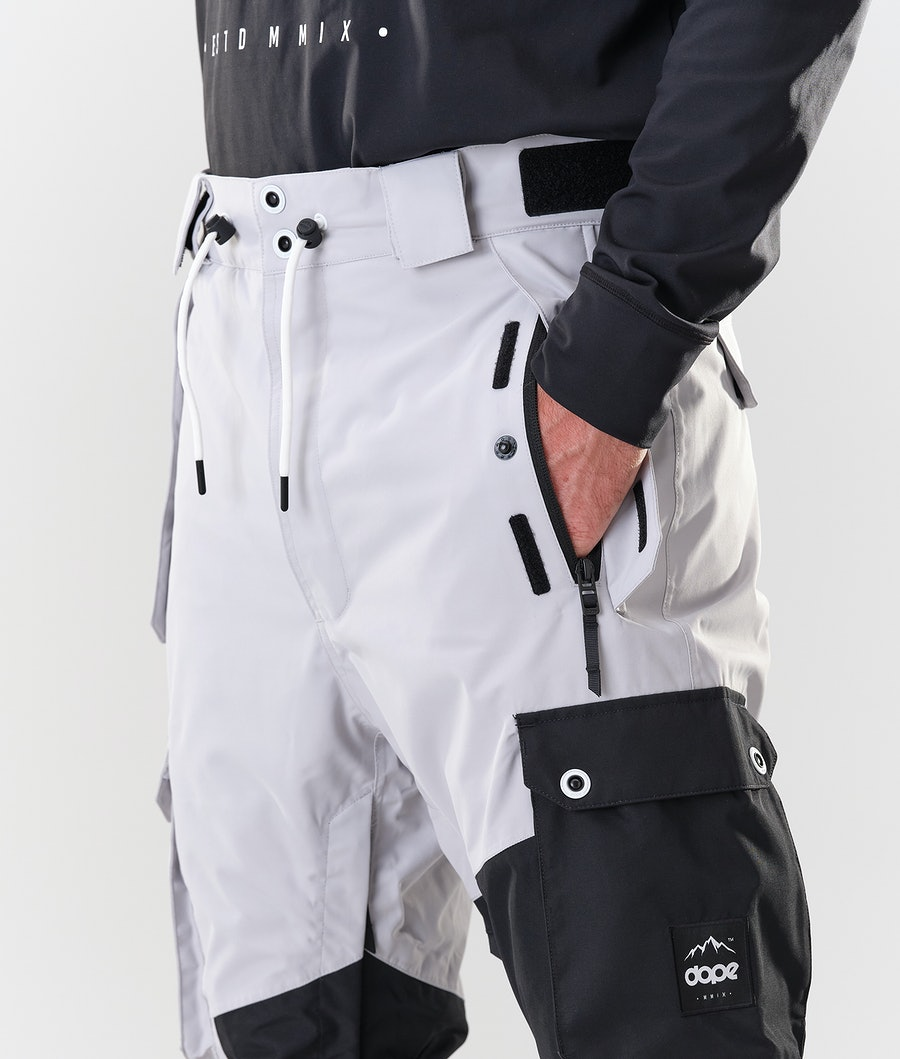 Dope Adept Snowboard Pants Light Grey/Black