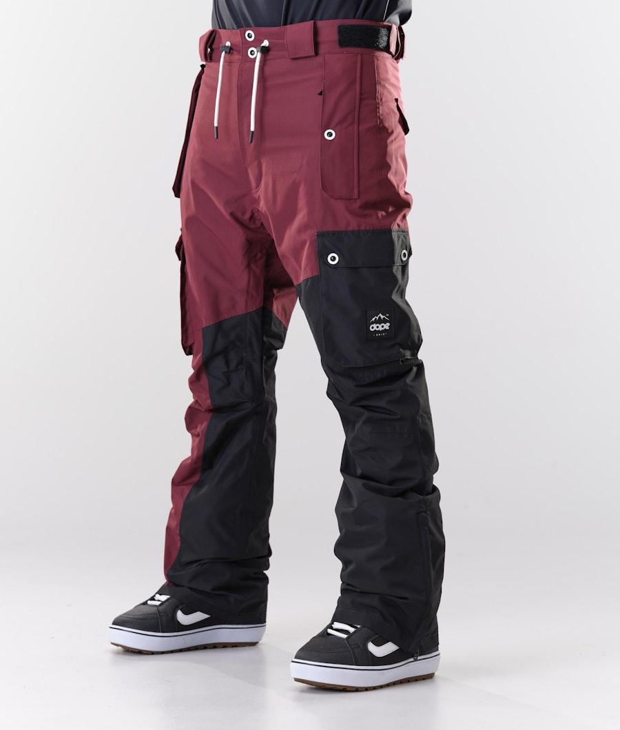 Dope Adept Snowboardhose Burgundy/Black