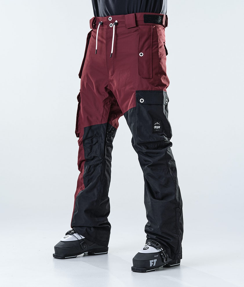 Dope Adept Ski Pants Burgundy/Black