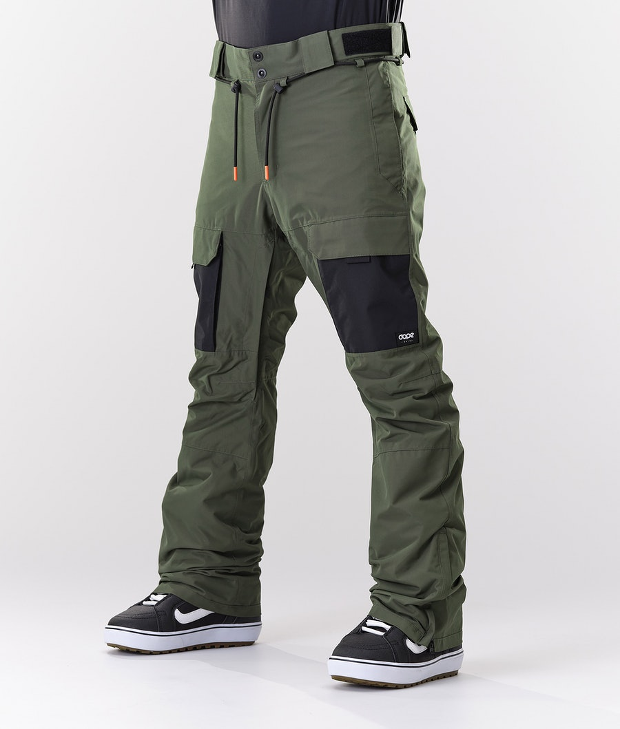 Dope Poise Snow Pants Olive Green/Black