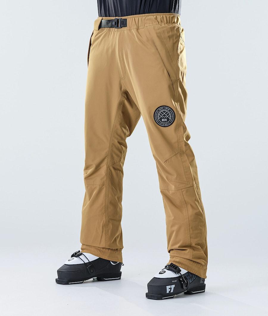Dope Blizzard Ski Pants Gold