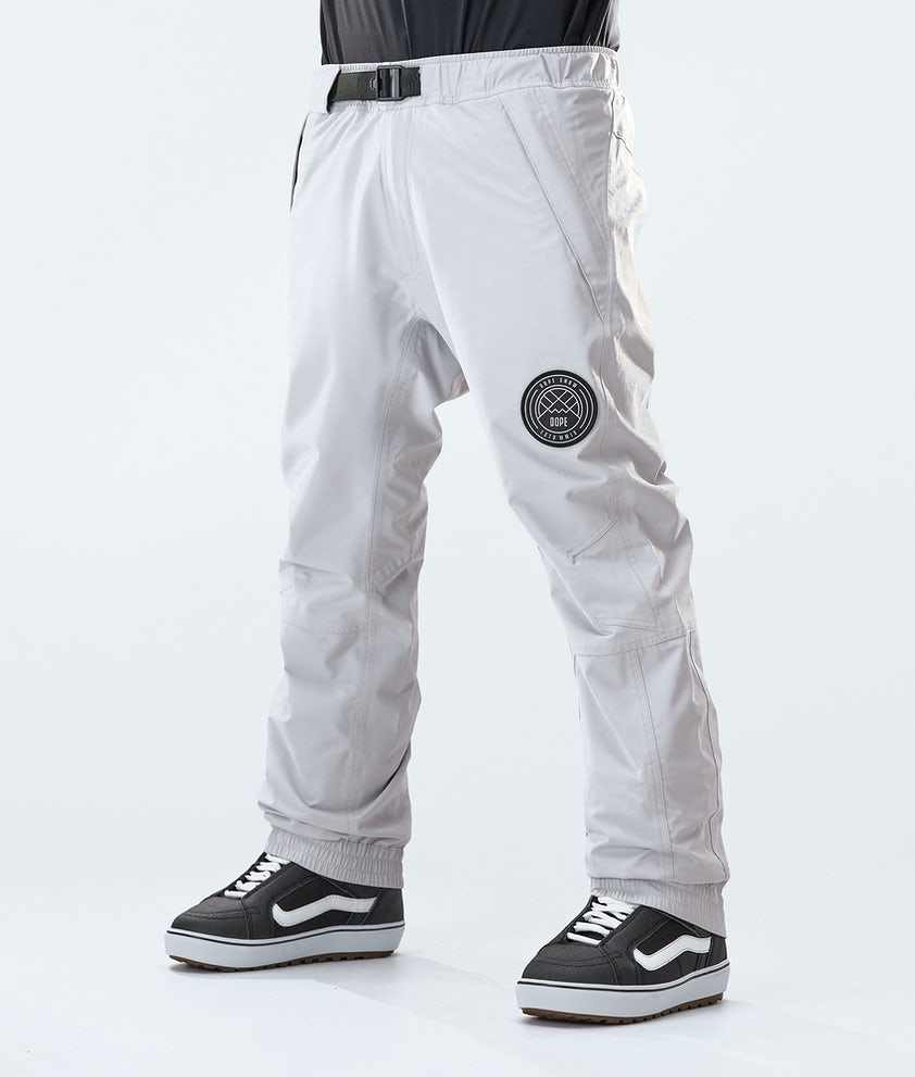 Dope Blizzard Snowboard Pants Light Grey