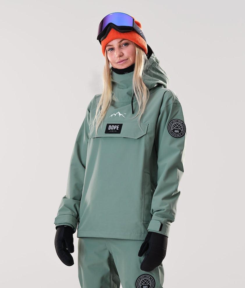 Dope Blizzard PO W Snowboardjacka Faded Green