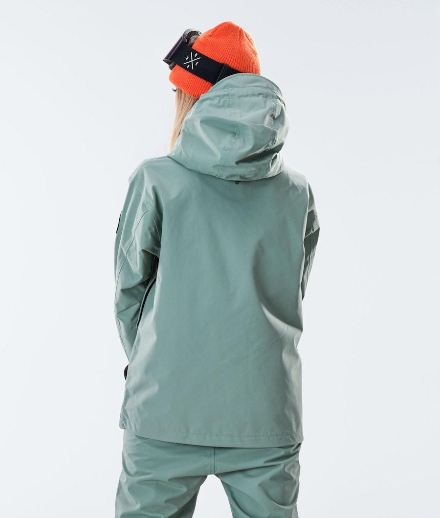 Dope Blizzard PO W Women's Snowboard Jacket Faded Green
