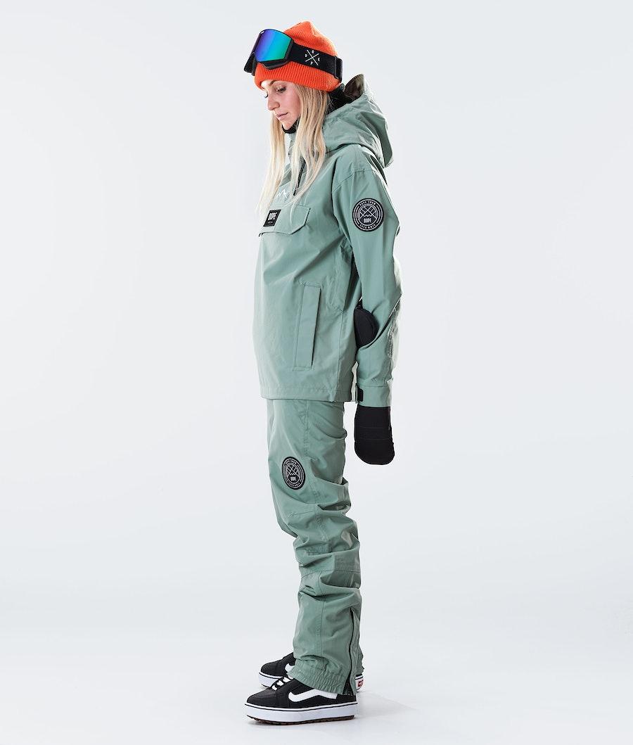 Dope Blizzard PO W Veste de Snowboard Femme Faded Green