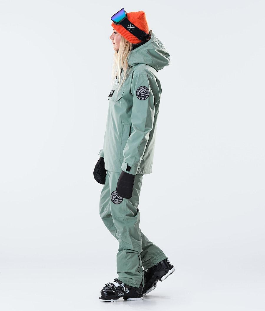Dope Blizzard PO W Veste de Ski Femme Faded Green