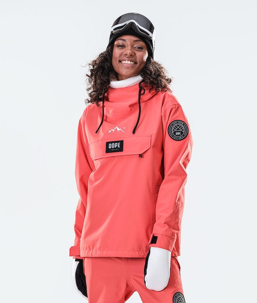 Dope Blizzard PO W Snowboard Jacket Coral
