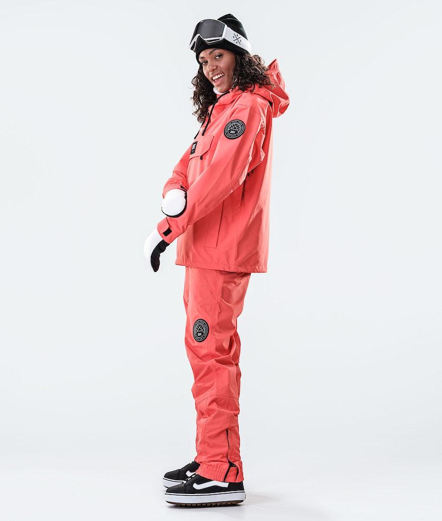 Dope Blizzard PO W Women's Snowboard Jacket Coral