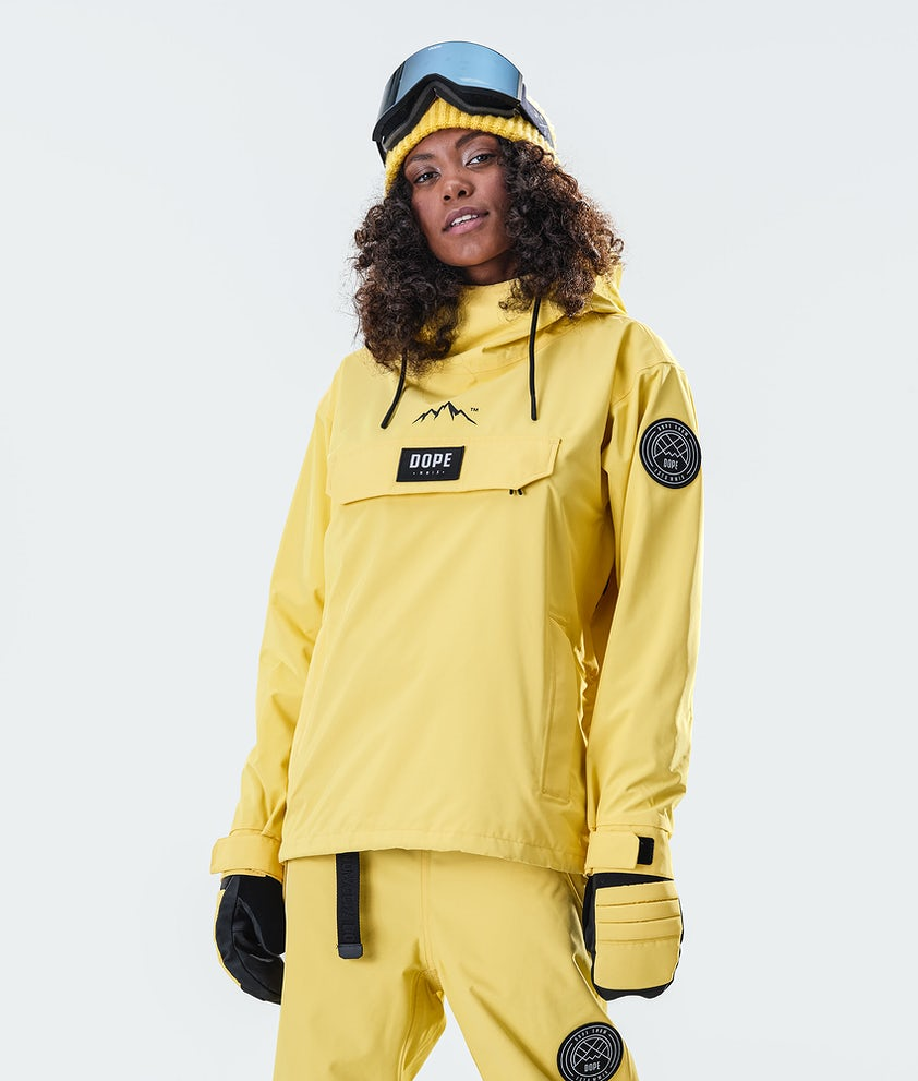 Dope Blizzard PO W Snowboard Jacket Faded Yellow
