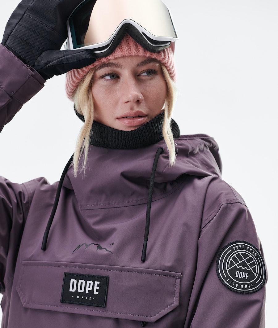Dope Blizzard PO W Snowboardjacka Dam Faded Grape