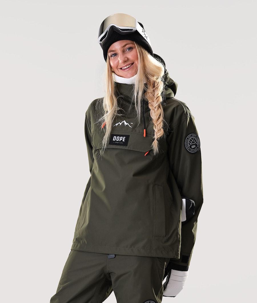 Dope Blizzard PO W Snowboard Jacket Olive Green