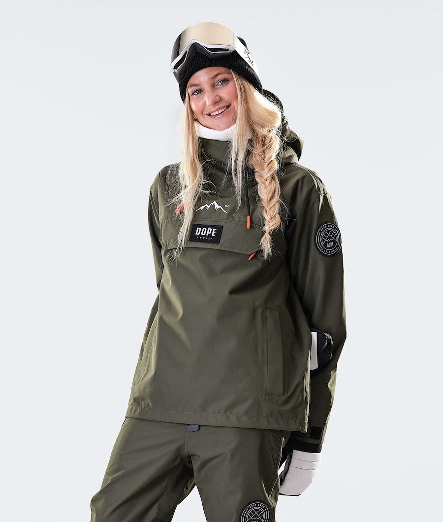Dope Blizzard PO W Snowboard jas Olive Green