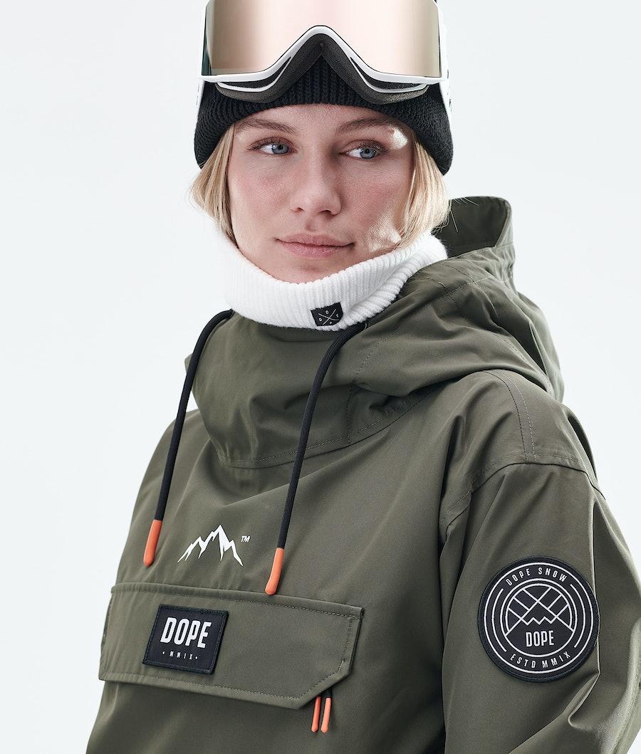 Dope Blizzard PO W Veste de Snowboard Femme Olive Green