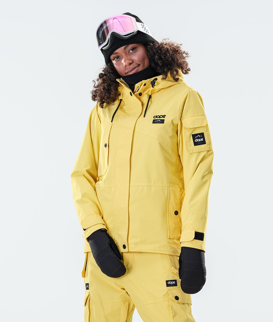 Dope Adept W Snowboard Jacket Faded Yellow