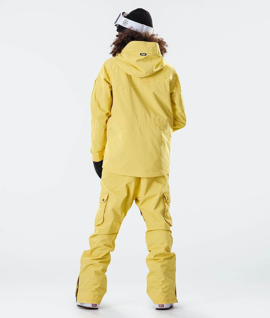 Dope Adept W Women's Snowboard Jacket Faded Yellow