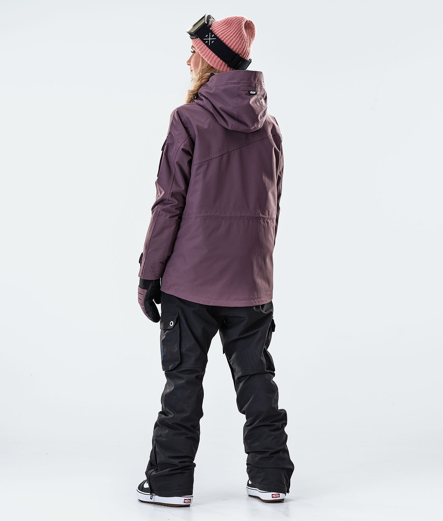 Dope Adept W Veste de Snowboard Femme Faded Grape