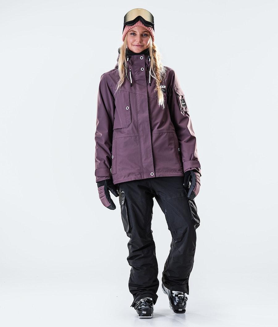 Dope Adept W Veste de Ski Femme Faded Grape