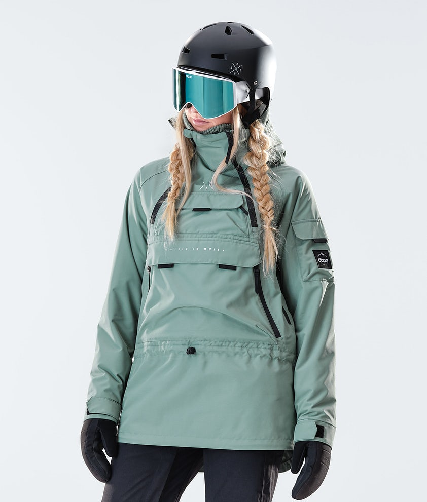 Dope Akin W Snowboard Jacket Faded Green