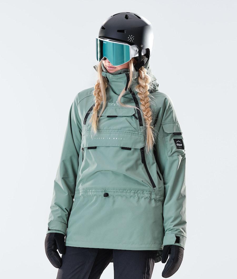 Dope Akin W Snowboard jas Faded Green