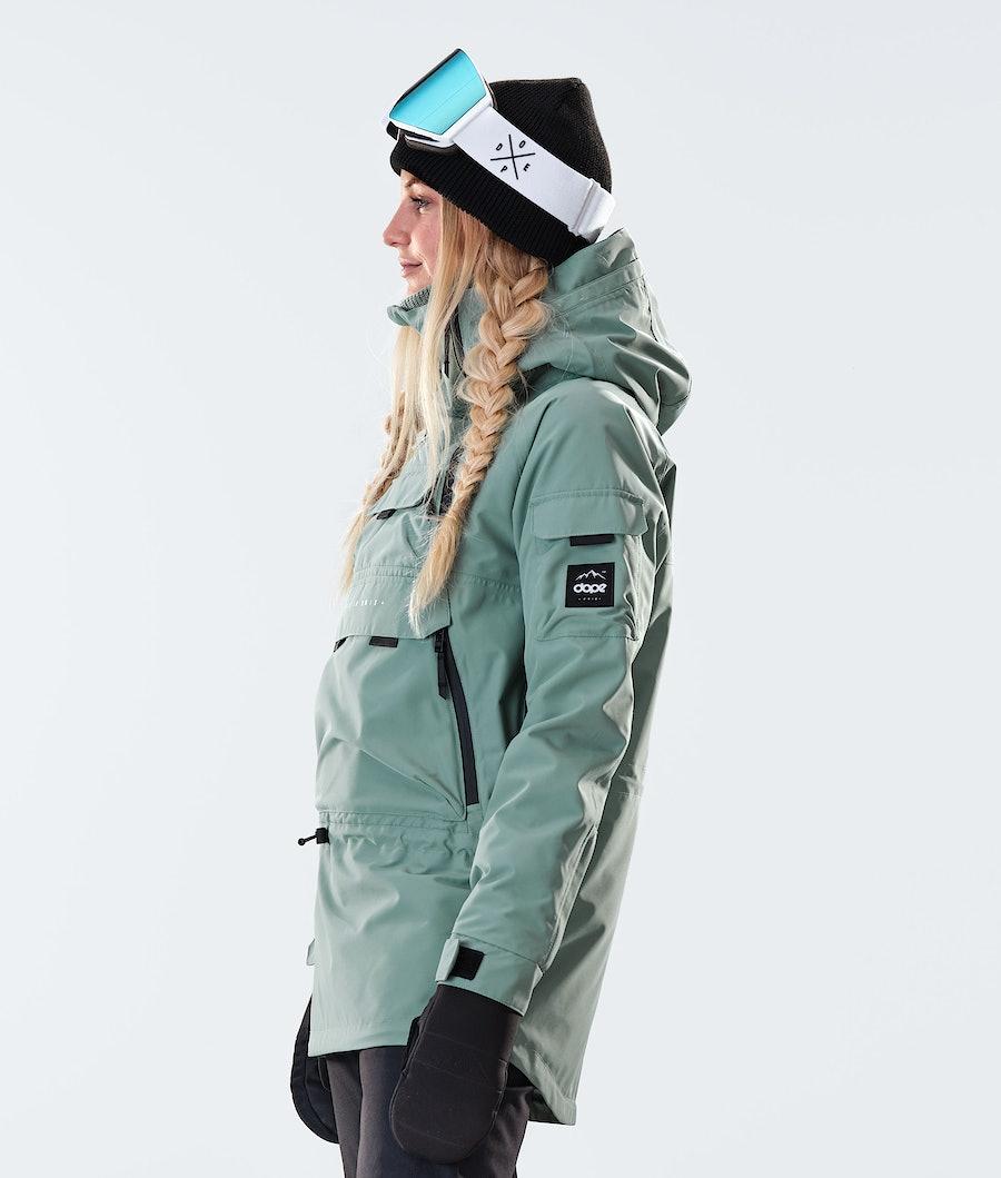 Dope Akin W Women's Snowboard Jacket Faded Green