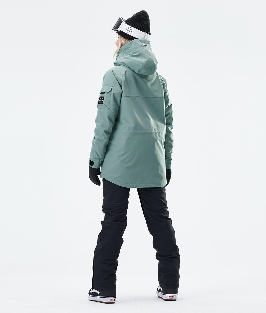 Dope Akin W Women's Snowboard Jacket Faded Green