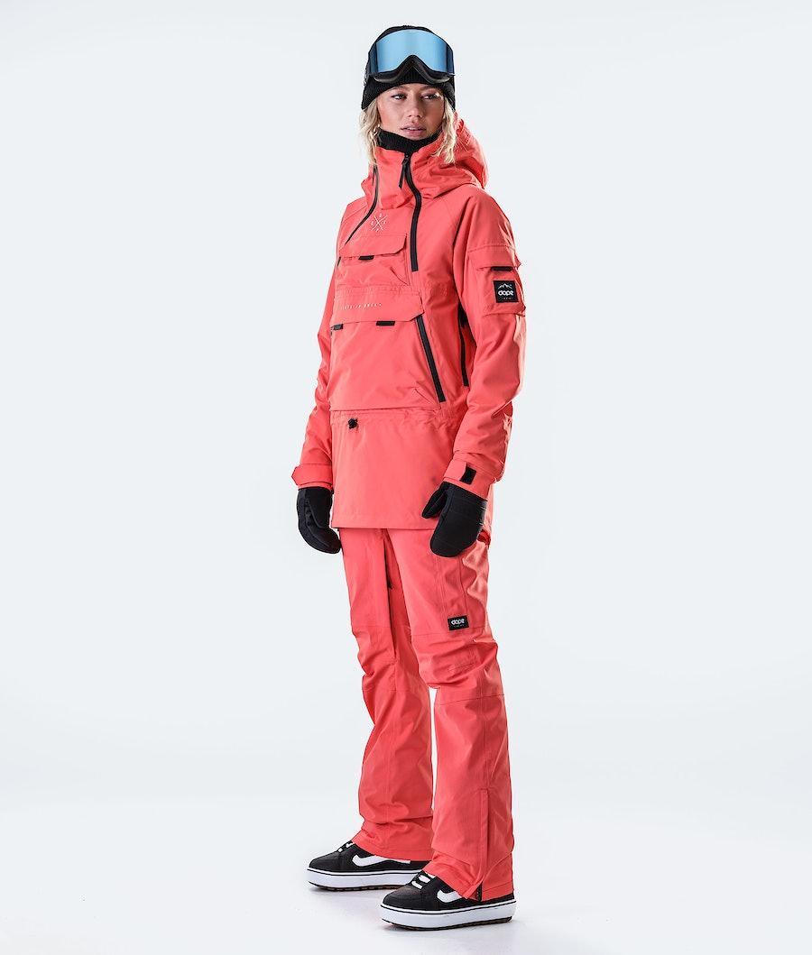 Dope Akin W Veste de Snowboard Femme Coral