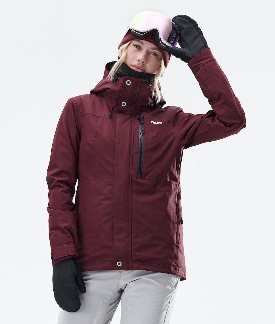 Dope Divine Snowboardjacke Damen Burgundy