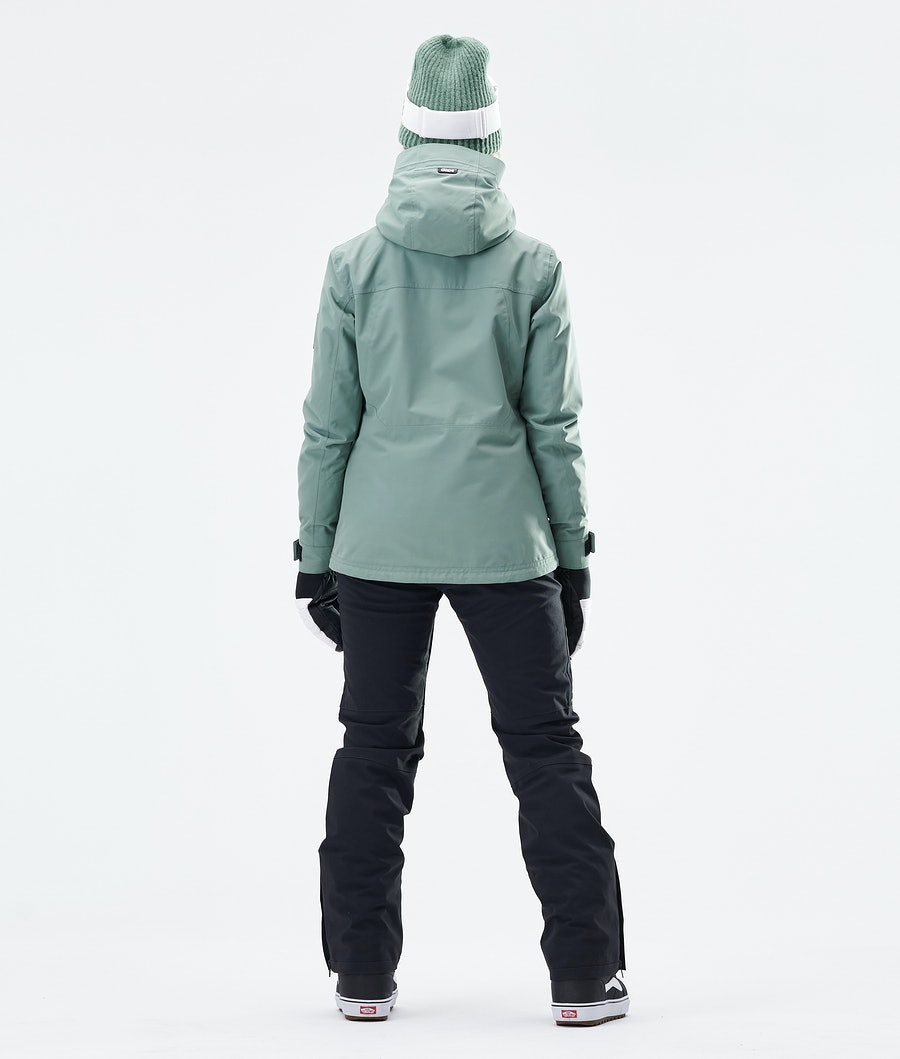 Dope Divine Women's Snowboard Jacket Faded Green