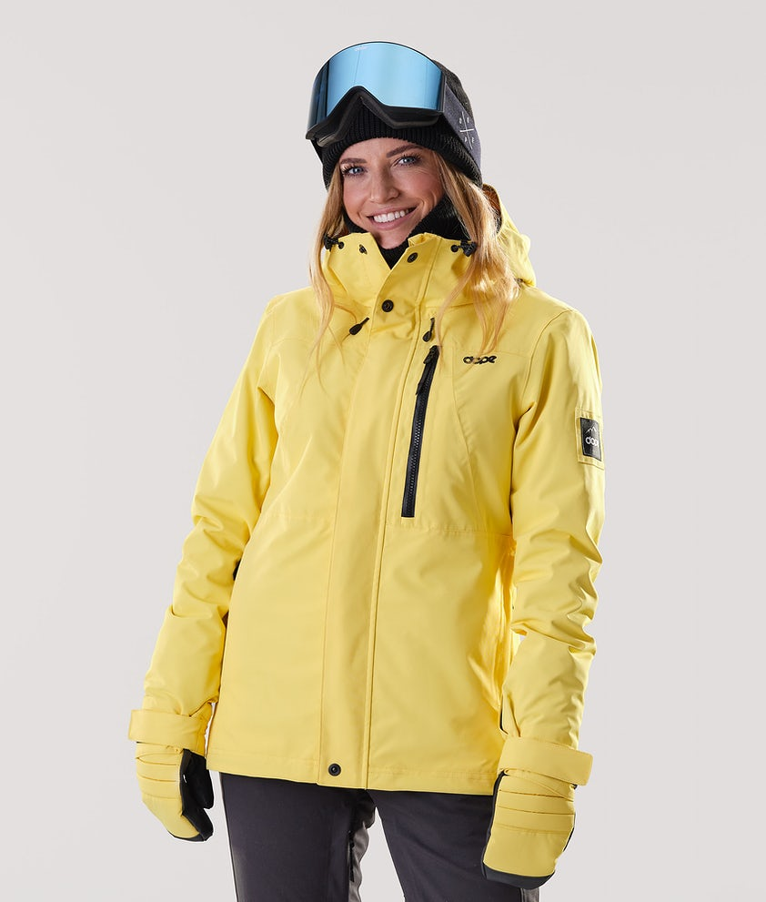 Dope Divine Snowboard Jacket Faded Yellow