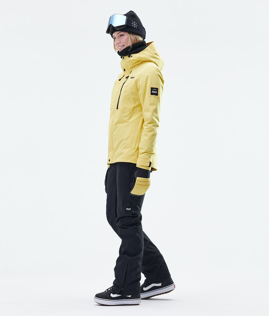 Dope Divine Women's Snowboard Jacket Faded Yellow