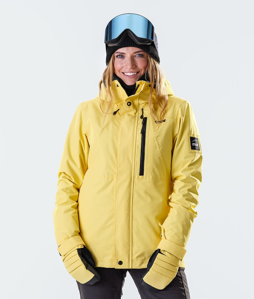 Dope Divine Veste de Ski Faded Yellow