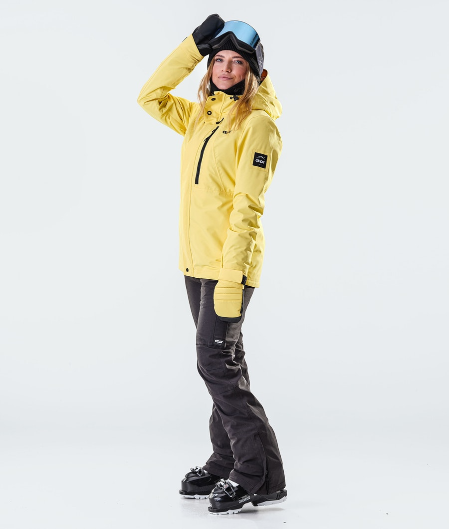 Dope Divine Veste de Ski Femme Faded Yellow