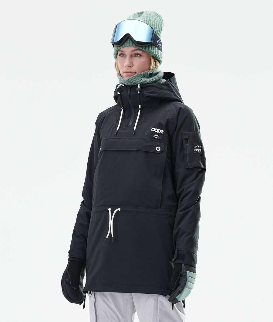 Dope Annok Long Snowboard Jacket Black