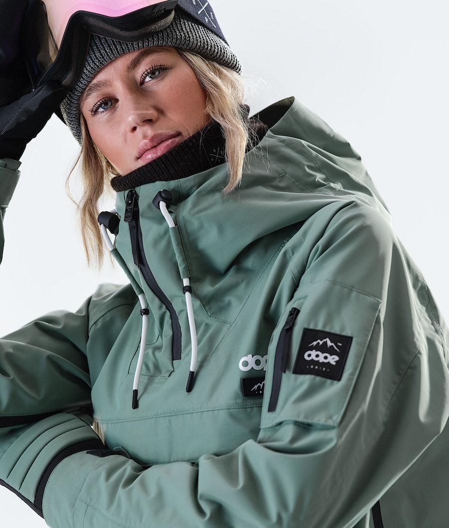 Dope Annok Long Women's Snowboard Jacket Faded Green